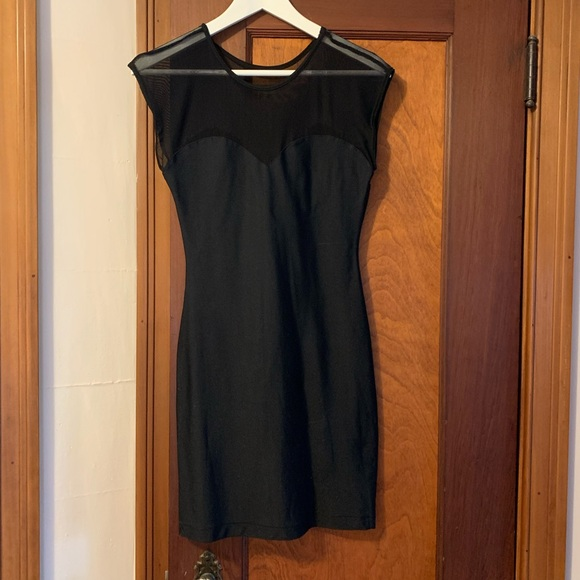 American Apparel Black Sweetheart Dress